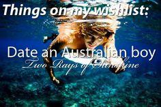 Date an Australian boy