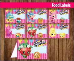 80% OFF SALE Shopkins Food Tent Cards instant download, Printable Shopkins Labels, Shopkins Party Table Label