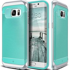 Nice Galaxy S7 Edge Case, Caseology® [Wavelength Series] Textured Pattern Grip Cover [Turquoise Mint] [Shock Proof] for Samsung Galaxy S7 Edge (2016) - Turquoise Mint