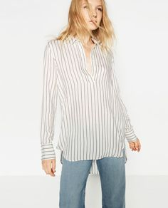 LONG STRIPED BLOUSE-View all-TOPS-WOMAN | ZARA United States