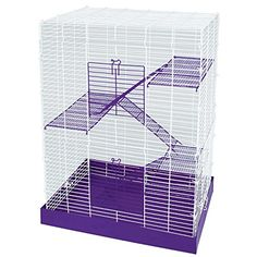Easy to clean metal drop pan Large access door with safety lock Hamster cages require no tool assembly