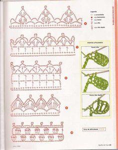 Crochet Baby Hat Patterns, Crochet Beret, Crochet Cord, Crochet Borders, Crochet Diagram, Crochet Baby Hats, Crochet Squares, Filet Crochet, Cute Crochet