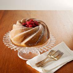White Chocolate Raspberry Swirl Cake