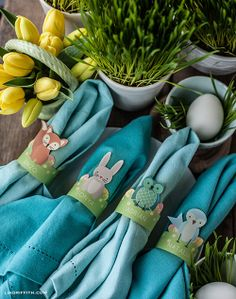 My Owl Barn: Printable Woodland Friends Easter Egg Holders & Napkin Rings