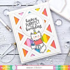 Birthday Kitties Stamp Set Birthday Sentiments, Birthday Messages, Birthday Cards, Cat Birthday, Friend Birthday, Flower Stamp, Flower Cards, Rainbow Balloons, Honey Bee Stamps