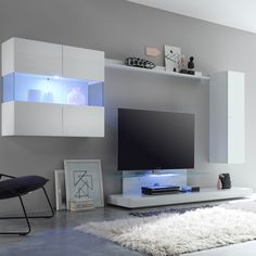 Diese #modernen #italienischen #DesignerMöbel Sind Ein Echter #Blickfang.  Variabel Stell /hängbar Können Die Einzelnen Elemente Als #moderne TV  Wohnwand ...