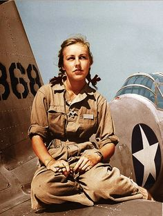 "bill-kelso-mfg: "" Shirley Slade, WWII WASP pilot of B-26 and B-39. In 1942, the United States was faced with a severe shortage of pilots, so an experimental program to replace males with female pilots was created. The group of female pilots was..."