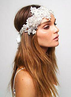 Lace Bridal Vintage Crystal Pearl Headband Headpiece Tiara,  Accessory, crystal  chain  headpiece  bridal  grecian, Bohemian (Boho) / Hippie