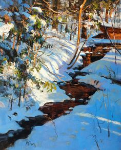 Winter Spotlight oil/linen, 30x24  For more information or to purchase this painting, contact Lauren Travis by phone at 215-794-3903 or by e...