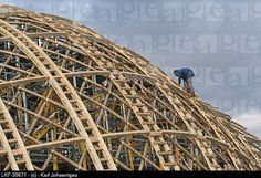 Building timber structure for Japanese Pavilion, Expo 2000, Hanover, Germany
