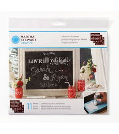 Martha Stewart Crafts ® Chalkboard Silkscreens - Phrases