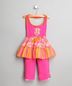 Take a look at this GiGi Pink Halter Top & Pants - Toddler & Girls by Sprinkled in Pink: Girls' Apparel on #zulily today!