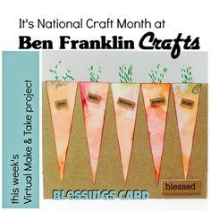 Ben Franklin CraftsLet's Craft National Craft Month: Blessings Card
