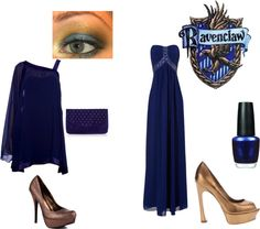 """Ravenclaw"" by meganmorgan ❤ liked on Polyvore"
