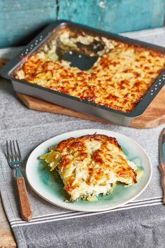 Spenótos rakott krumpli | Street Kitchen Winter Food, Lasagna, Bacon, Pasta, Sweets, Fish, Meals, Cooking, Ethnic Recipes