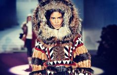 "On Monday, the fashion label Dsquared2 showcased a Native-themed line at its Fall/Winter 2015 Women's Show in Milan, Italy. The show streamed live on the company's website, and was followed up by a series of Instagram and Twitter posts of photos from the event. Dsquared2's designers, twin brothers Dean and Dan Caten, dubbed their collection ""Dsquaw"" and used the racial-slur pun as a hashtag."