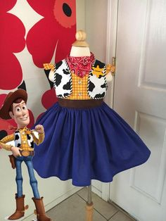 Custom Made to Order Toy Story Woody inspired dress Sz to Jesse Toy Story Costume, Toy Story Halloween Costume, Woody Costume, Toy Story Costumes, Halloween Costume Contest, Toy Story Kostüm, Toy Story Party, Jessie Costumes, Baby Costumes