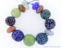 Lampwork Glass Beads by Dora Schubert