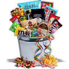 Deluxe Junk Food Bucket - http://mygourmetgifts.com/deluxe-junk-food-bucket/