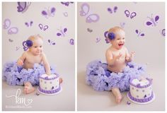 Purple Butterfly Cake Smash – Payton is ONE #Photography