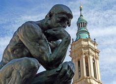 Escultura de Rodin junto a la Seo - José Luis Hernández -