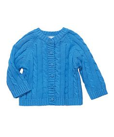 Blueberry Cable-Knit Cardigan