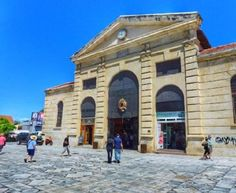 "Looking for special gifts to take to your friends back home from Crete? Experience local delicacy shopping in an ancient Greek resembling ""agora"" marketplace! Visit the Municipal Market in the heart of Chania Town and feast your eyes & palates in delicious tastes within some 4.000 square meters of historical architecture! Square Meter, Historical Architecture, Ancient Greek, Crete, Resort Spa, Special Gifts, Louvre, Mansions, Eyes"