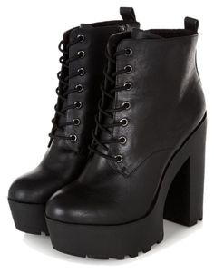 Chunky Heel Boots- the footwear can give a gorgeous look to the foot chunky heel boots black chunky platform lace up block heel boots found on sxgpvso Black Block Heel Boots, Black Lace Boots, Lace Up Heel Boots, Lace Up Block Heel, Block Heel Shoes, Black Shoes, Heeled Boots, Black Booties, Ankle Booties