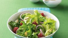 Honey-Lime Berries and Greens Salad