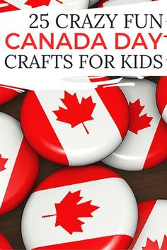 While there are tons of of July activities that celebrate the American flag, I always find there's a serious shortage on Canada Day crafts for kids, so I've rounded up 25 great Canada-inspired act Kids Crafts, Craft Activities For Kids, Summer Crafts, Daycare Crafts, Daycare Ideas, Craft Ideas, Canada For Kids, Canada 150, Canada Day Crafts
