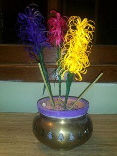 Arranjos florais com quiling