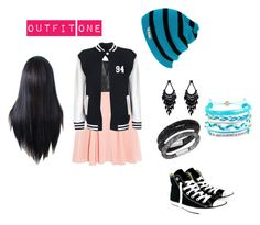 """""""Outfit one"""" by its-allright ❤ liked on Polyvore featuring Mason by Michelle Mason, Neff, Swarovski, Converse, Domo Beads and Oasis"""