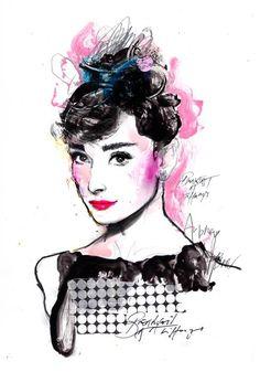 Audrey Hepburn by Zé Otavio.