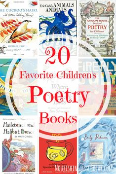 20 Favorite Children's Poetry Books: Children's poetry books are a rich way for kids to enjoy limericks, poetic stanzas, tongue twisters, and rhymes. Through poetry, they learn the joy of play on word Poetry Books For Kids, Best Poetry Books, Books For Teens, Kid Books, Poetry Activities, Sequencing Activities, Kindergarten, Teaching Poetry, Book Organization