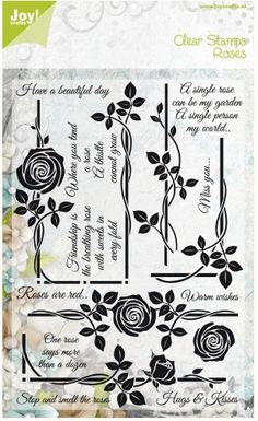 Joy Crafts - Clear Stamps - Roses Have A Beautiful Day,$19.99