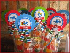 Bar, Colorful, Candy Stations, Candy Buffet, Smurfs, Infancy, Blue Nails