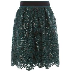 Coast Aniston Sequin Skirt, Green ($78) ❤ liked on Polyvore featuring skirts, flare skirts, green skirt, sequin skirt, flared skirt and coast skirts