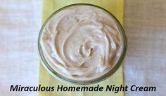 Vergeet de vermoeide en gezwollen ogen en donkere kringen! Wonderbaarlijke Homemade Night Cream! | DiyProjects.Tips