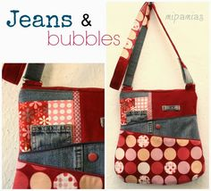 ZickyZacky Bag Jeans & bubbles from mipamias (lots of other cute things on website)