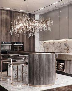 Luxury Kitchen Design, Kitchen Room Design, Best Kitchen Designs, Luxury Kitchens, Interior Design Living Room, Kitchen Decor, Home Design Decor, Luxury Home Decor, Küchen Design