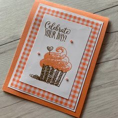 One more Stampin' Up! Hello Cupcake Sale-A-Bration Sneak Peek (Stamped Sophisticates) Birthday Cards For Women, Handmade Birthday Cards, Happy Birthday Cards, Birthday Cheers, Card Birthday, Birthday Images, Birthday Quotes, Birthday Greetings, Birthday Wishes