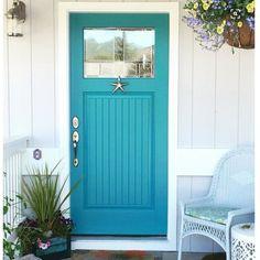 wythe blue front door brick house ~ wythe blue front door _ wythe blue front door brick house _ wythe blue front door and shutters Teal Front Doors, Teal Door, Turquoise Door, Front Door Paint Colors, Exterior Paint Colors For House, Painted Front Doors, Front Door Design, Beach Style Front Doors, Painted Interior Doors
