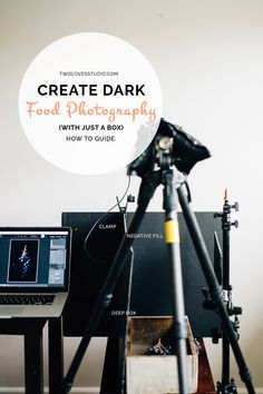 With just a box and some negative fill you can create dark food photography images. Click to read how to guide and behind the scenes images.
