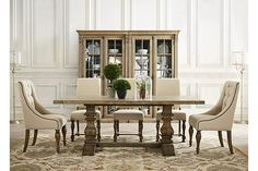 dinner room table very similar to restoration hardware one that i liked.love these chairs with the rustic table Dining Room Chairs, Upholstered Dining Chairs, Rustic Dining Chairs, Dinner Room, Dining Room Decor, Dining Room Table, Dining Chairs, Dining Room Furniture, Dinning Room Tables