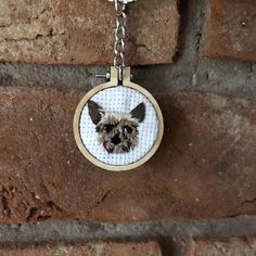 Embroidered personalised pet portrait keyring of a yorkshire terrier Portrait Embroidery, Wooden Embroidery Hoops, Embroidered Gifts, Yorkshire Terrier Puppies, Thing 1, Wooden Shapes, Best Resolution, Animal Faces, Pet Portraits