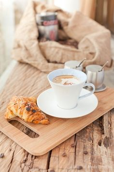 French Breakfast ! Hot chocolate and puff pastries.