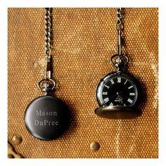 Personalized Midnight Pocket Watch