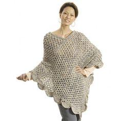 Mary Maxim - Free The Gift Poncho Crochet Pattern