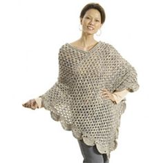 Mary Maxim - Free The Gift Poncho Crochet Pattern