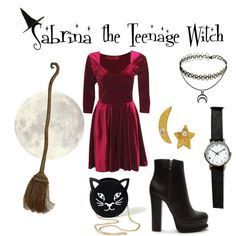 Sabrina the Teenage Witch by georgiarose23 on Polyvore featuring polyvore, fashion, style, Rubie's Costume Co., Forever 21 and Kevia
